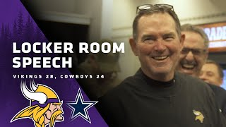 Mike Zimmer's Locker Room Speech After The Win Over The Dallas Cowboys on Sunday Night Football