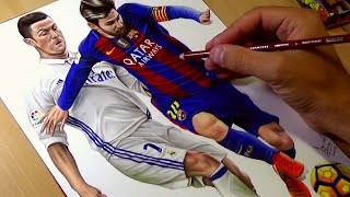 Drawing Ronaldo vs Messi