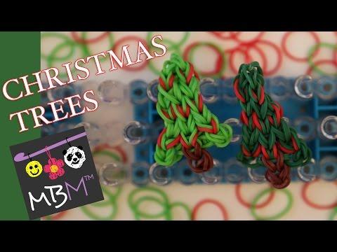 Rainbow Loom Band Christmas Tree Charm