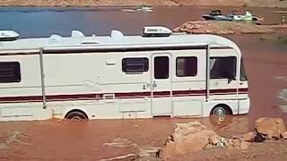 Motorhome RV Mud Bogging Off-road - Motor Home Saved by a Ford Truck!