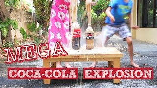 COOL Experiments with Coca-Cola and Baking Soda, MEGA COKE EXPLOSION!!! BIGGER than Coke and Mentos!