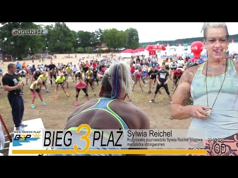 Sylwia Reichel poprowadziła rozgrzewkę przed Biegiem Trzech Plaż