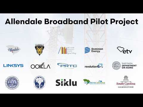 screenshot of youtube video titled Allendale Broadband Pilot Program Press Conference