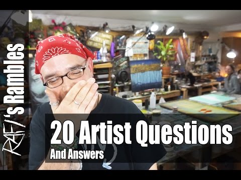 20 Questions About Being An Artist - Starving Artist Tag