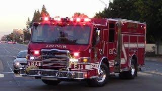 Anaheim Fire & Rescue Engine 11 Responding