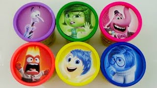Disney Pixar's Inside Out with Joy, Disgust, Sadness, Fear and Anger Play-Doh Lids