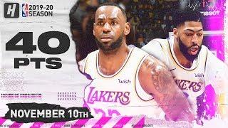 LeBron James Triple-Double & Anthony Davis Full Highlights vs Raptors 2019.11.10 - 40 Pts Combined!
