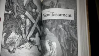 1611 King James Bible facsimile. & KJV Gustave Dore illustration Bible Review.