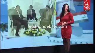 مذيعة لبنانية تفقد وعيها على الهواء