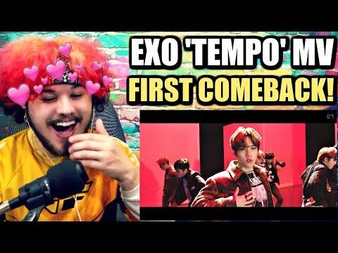 EXO 엑소 'Tempo' MV   MY FIRST EXO COMEBACK!   REACTION!!