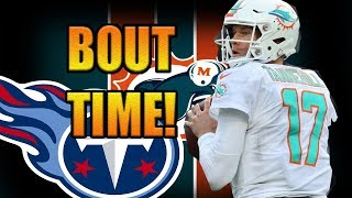 BOUT TIME! MIAMI DOLPHINS TRADE RYAN TANNEHILL TO THE TENNESSE TITANS!! @1KFLeXin | Dolphins fan