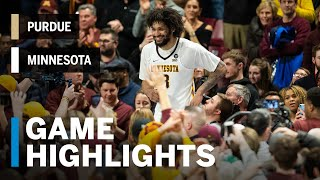 Highlights: McBrayer, Murphy Lead Gophers to Senior Night Win | Purdue at Minnesota | March 5, 2019