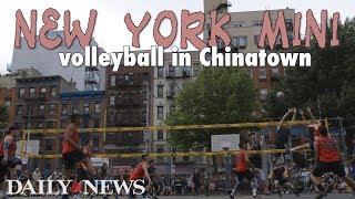 'New York Mini' volleyball in Chinatown