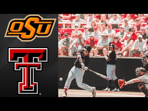 #9 Oklahoma State vs #8 Texas Tech Super Regional Game 1 | College Baseball Highlights
