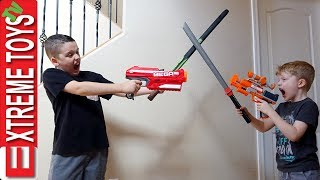 Extreme Toys Short: Ethan Vs. Cole Nerf Blasters and Nerf Sword Attack!