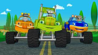 Learn Colors Monster Truck Race + Monster Truck Compilation I HOUR