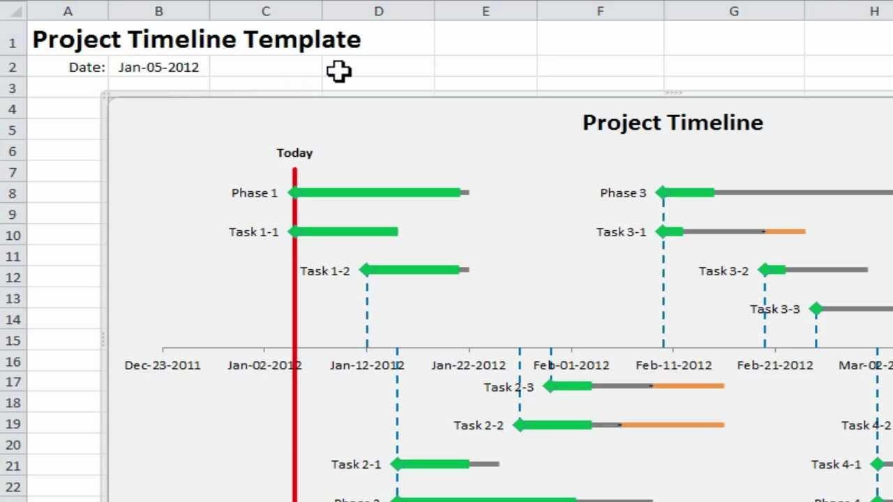 excel project timeline 10 simple steps to make your own. Black Bedroom Furniture Sets. Home Design Ideas