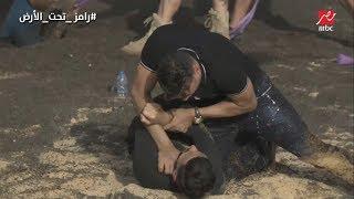 رد فعل عصام الحضري و ضرب رامز جلال بعد أكتشاف مقلب رامز تحت الأرض