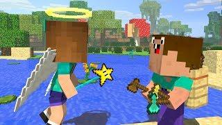 Noob & Endy Life - Ep2: DIAMOND AXE STORY - Minecraft Animation