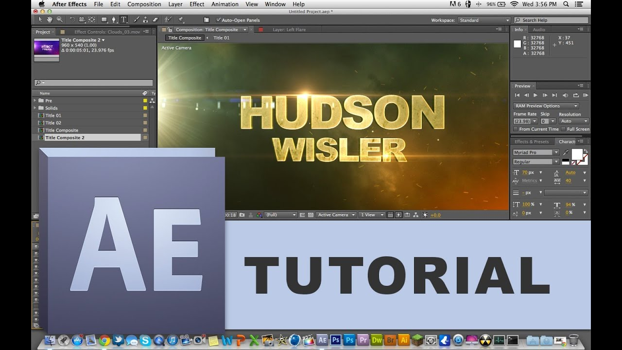 How to edit templates in adobe after effects beginner for How to use adobe after effects templates