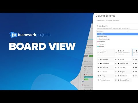 Board View for Teamwork Projects