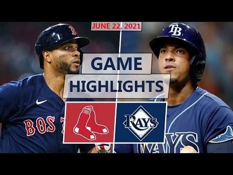 Boston Red Sox vs. Tampa Bay Rays Highlights | June 22, 2021 (Wander Franco MLB Debut)