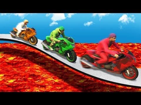 EXTREME LAVA TIGHTROPE BATTLE! (GTA 5 Funny Moments)