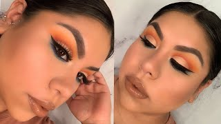Orange & Blue Makeup Look | Morphe X James Charles Palette