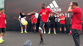 Manchester United Players Attend Adidas Event In Singapore - Pogba Shows Off Insane Freestyle Skills