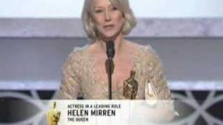 Helen Mirren winning an Oscar® for