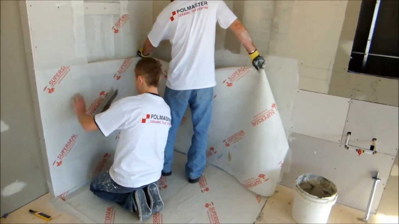 Shower Wall And Floor Membrane Installation Youtube