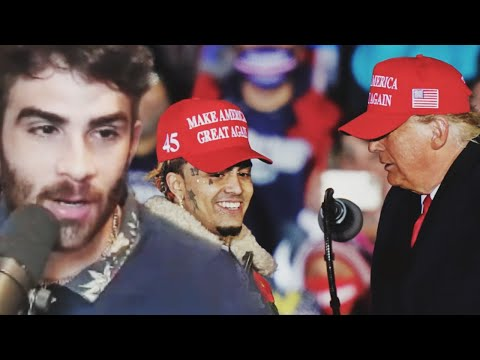 Hasanabi Reacts to Lil Pump Speaks at Trump Rally