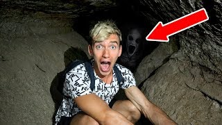 EXPLORING ABANDONED CAVE!! (HAUNTED)