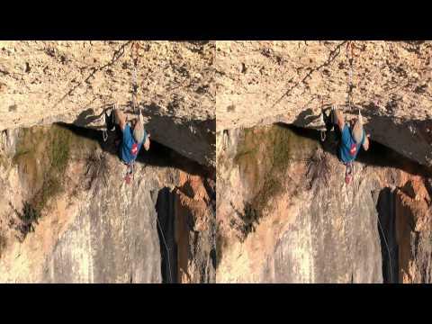 Climbing Nit de Bruixes 9a+ route in 3D - Iker Pou Spain 2012