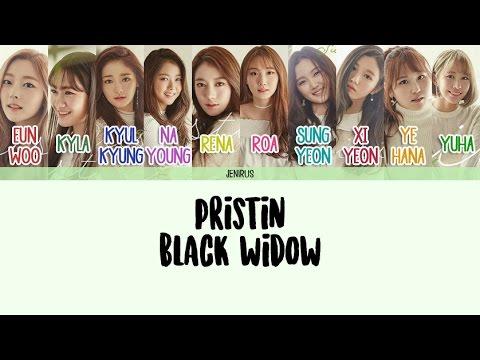 PRISTIN - Black Widow [Eng/Rom/Han] Color Coded Lyrics
