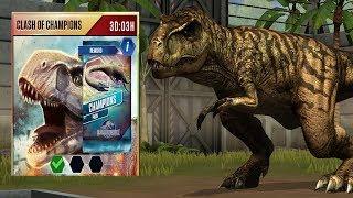 🦖 Mở Khóa Clash Of Champion Chiến Đấu T-Rex LV40 | Jurassic World Khủng Long Game Android, Ios
