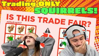 Trading ONLY Squirrels in Roblox ADOPT ME!