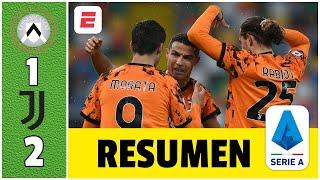 Udinese 1-2 Juventus. Cristiano Ronaldo se reencuentra con el gol y salva a la Juve | Serie A