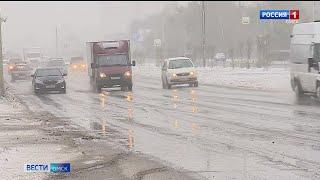 Жертвы снегопада: автомобиль отбросило под колеса Камаза