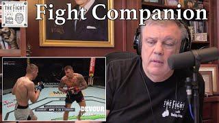 Teddy Atlas watches DUSTIN POIRIER vs DAN HOOKER | The Fight Companion