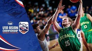 Philippines v Australia - Semi-Finals - Full Game - FIBA U18 Asian Championship 2018