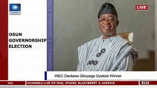 INEC Declares APC's Oyetola Winner Of Osun Governorship Election