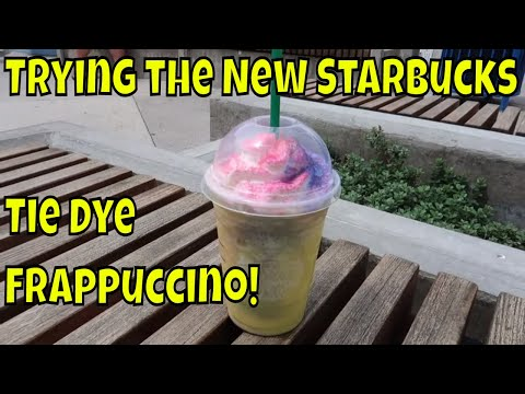New Starbucks Drink - Tie Dye Frappuccino!!!