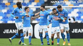 NAPOLI-FIORENTINA 6-0 - Radiocronaca di Giuseppe Bisantis e Fabrizio Cappella (17/1/2021) Radio Rai