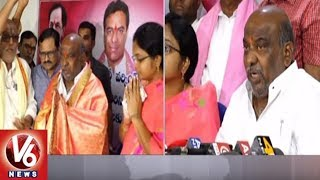 MLA Jogu Ramanna Express Happiness For Appointing KTR As TRS Working President | Adilabad | V6 News