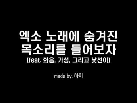 [EXO] 엑소 노래에 숨겨진 목소리를 들어보자 (화음, 가성 모음)