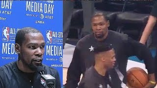 Kevin Durant On Russell Westbrook Narrative That No One Wants To Play With Him!