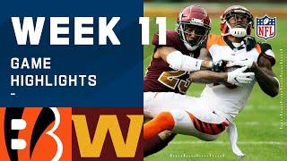 Bengals vs. Washington Football Team Week 11 Highlights   NFL 2020