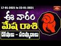 Aries Weekly Horoscope By Dr Sankaramanchi Ramakrishna Sastry | 17 Jan 2021 - 23 Jan 2021