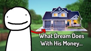 Dream Talks About What He Does With All His Money From Minecraft Manhunt... Podcast, and More